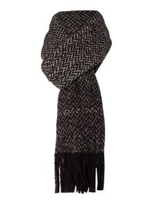 Marella Incenso textured wool scarf