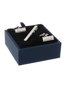 Howick Tailored Engraved Line Cufflink and Tie Slide