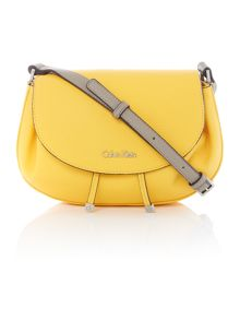 Calvin Klein Jenna yellow small crossbody bag