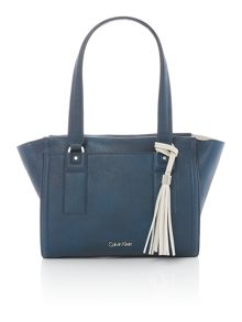 Calvin Klein Robyn blue small tote bag