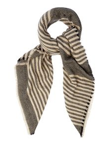 Pieces Square striped scarf