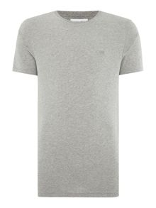 Soulland Regular fit small ribbon logo t shirt