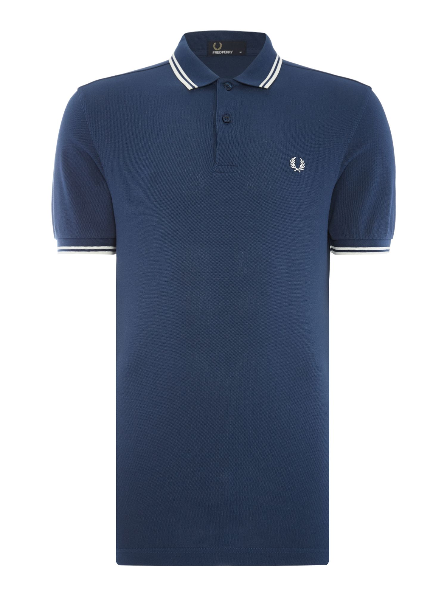 Mens Fred Perry Twin Tipped Polo Shirt Midnight Blue