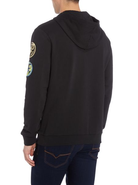 Versace Jeans Patch logo hoodied sweat top