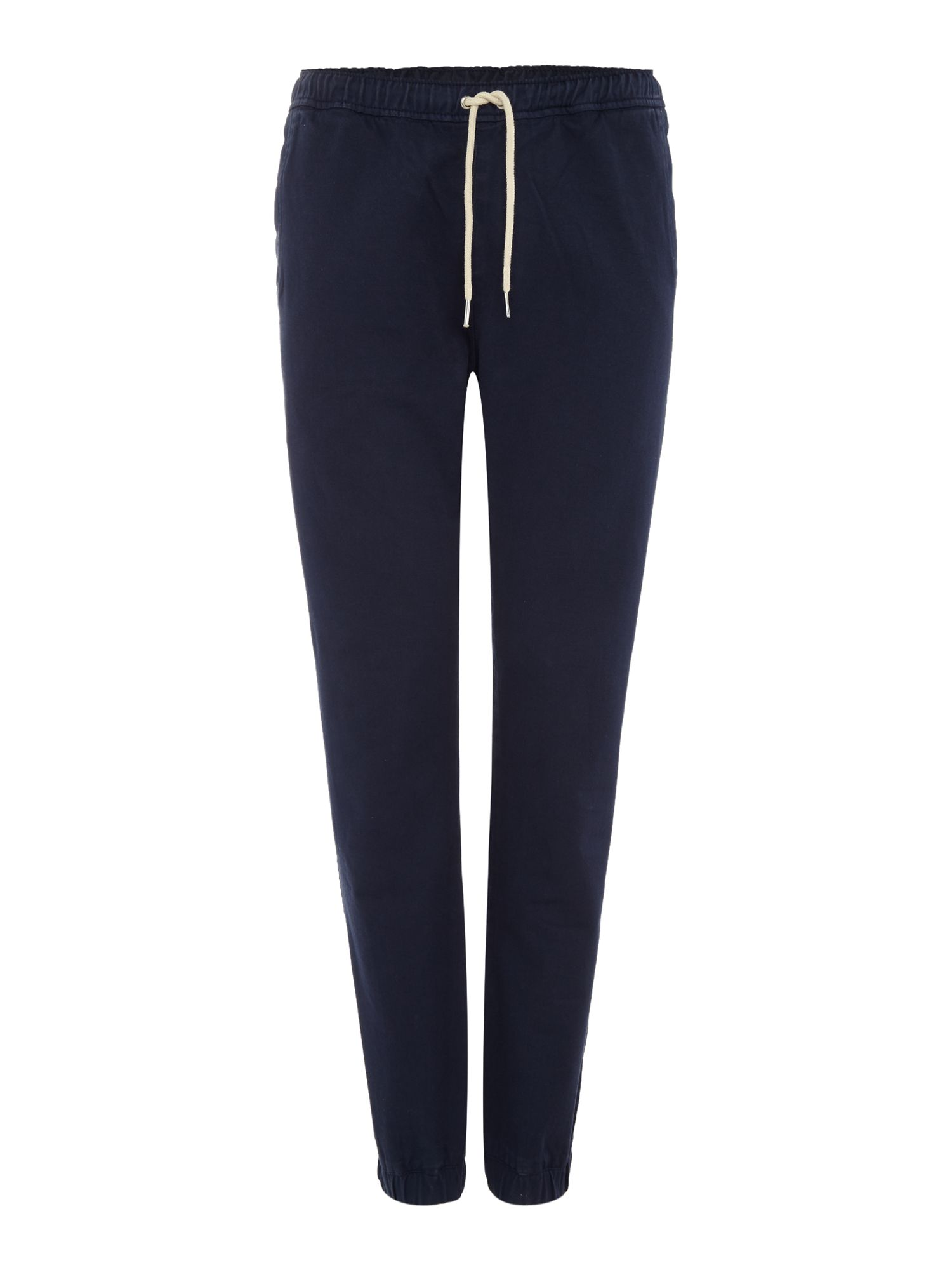 Soulland Men's Soulland Cuffed drawstring tracksuit bottoms, Navy