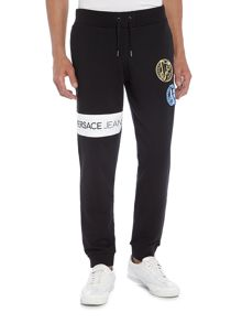 Versace Jeans Patch logo cuffed sweat pants