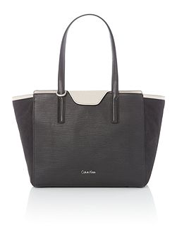 Lisa black large tote bag