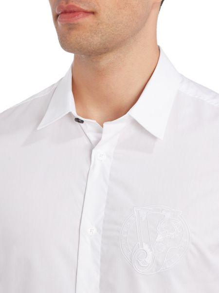 Versace Jeans Regular fit embroidered chest logo shirt