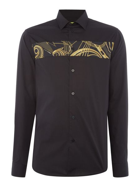 Versace Jeans Regular fit printed chect panel long sleeve shirt