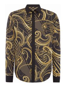Versace Jeans Regular fit all over print long sleeve shirt