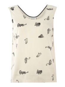 Vero Moda Sleeveless jersey printed top