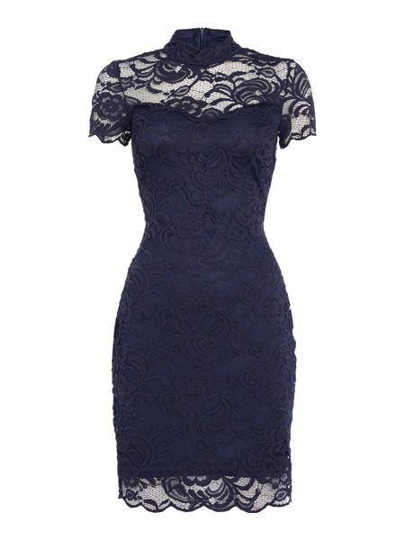 Jessica Wright High Neck Lace Bodycon Dress