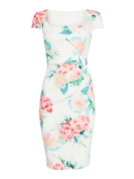 Jessica Wright Sleeveless Square Neck Bodycon Dress