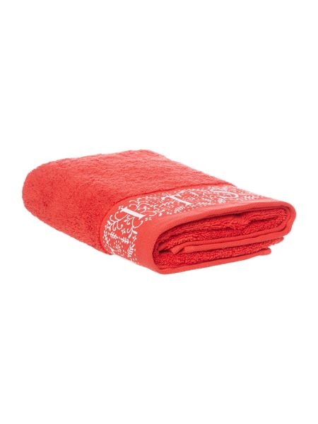 Linea Let it snow hand towel red