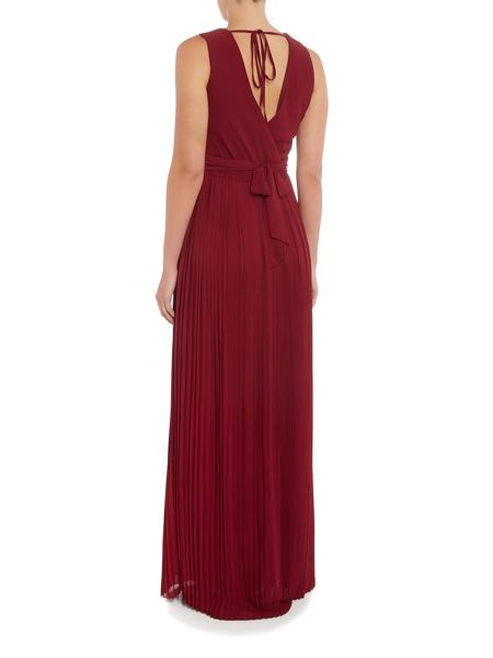 tfnc Sleeveless V Neck Pleated Maxi Dress