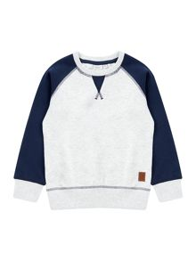 name it Boys contrast Sleeve Sweat