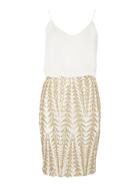 tfnc Sleeveless Blouson Embellished Skirt Dress
