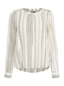 Vero Moda 3/4 long sleeve button up shirt