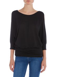Wal-G Long Sleeved Cold Shoulder Knit