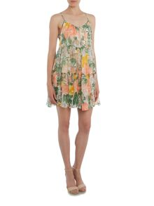 Vila Sleeveless Floral Skater Dress