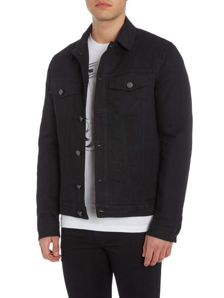 Versace Jeans Button through denim jacket with back logo