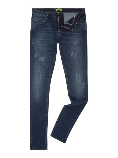Versace Jeans Skinny fit dark wash distressed jeans