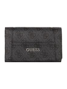Guess Delaney grey flapover purse