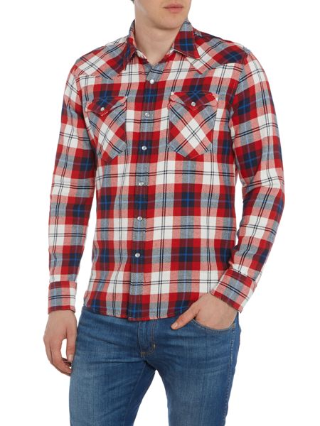 Levi's Slim fit barstow western checked shirt