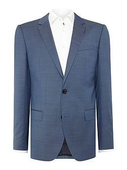 Huge Genius Textured Blue Two-Piece Suit