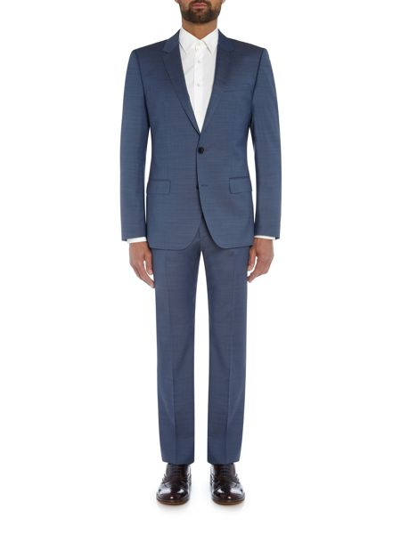 Hugo Huge Genius Textured Blue Two-Piece Suit