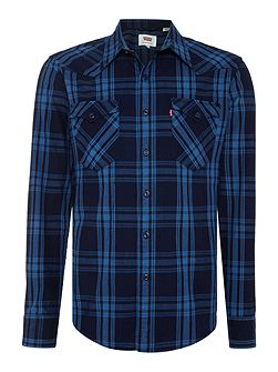 Slim fit barstow western check shirt