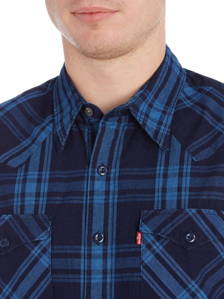 Levi's Slim fit barstow western check shirt