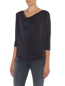Linea Drape Cowl Neck Top