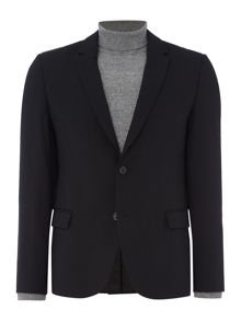 Hugo Ander Textured Blazer with Leather Trim