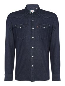 Levi's Slim fit barstow western light denim shirt