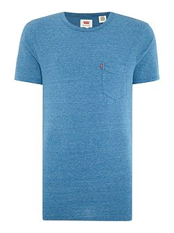 Regular fit space dye pocket t shirt
