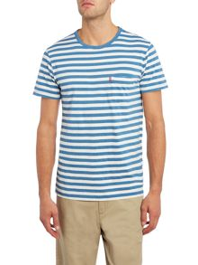 Levi's Regular fit striped 1 pocket t shirt