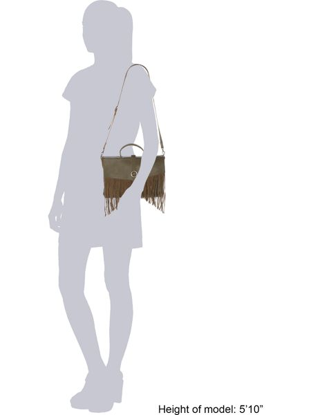 Label Lab Aria fringe satchel