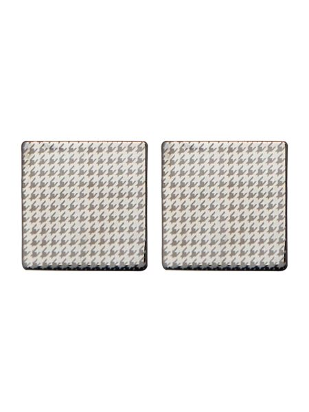 Label Lab Mini Houndstooth Cufflink And Tie Clip