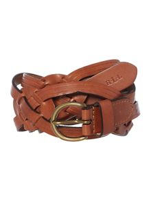 Lauren Ralph Lauren Tan skinny belt with buckle