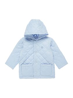 Newborn Quilted Jacket with Hood