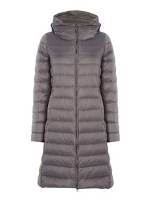 Max Mara Eros padded longline jacket with hood