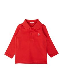 Benetton Newborn Long Sleeve Pique Polo