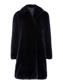 Max Mara Evelin faux fur coat