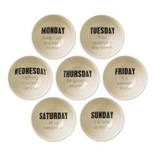 Bloomingville Weekday bowl, set of 7