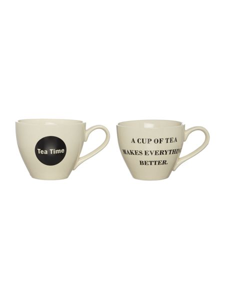Bloomingville Cathrine cup, white/black, set of 2