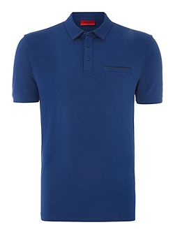 Dolorino Mercerised Leather Trim Polo Top