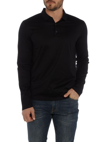 Hugo Delato Mercerised Polo Top
