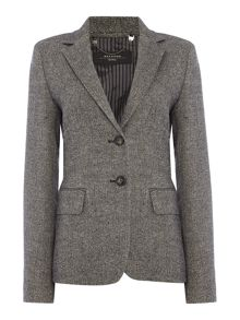 Max Mara Dalmine herringbone tweed blazer