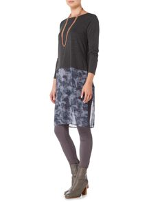 Gray & Willow Talvi 2 in 1 jersey tunic woven hem